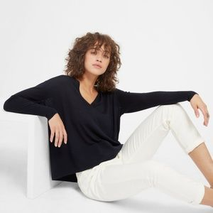 Everlane The Luxe Wool Square V-Neck